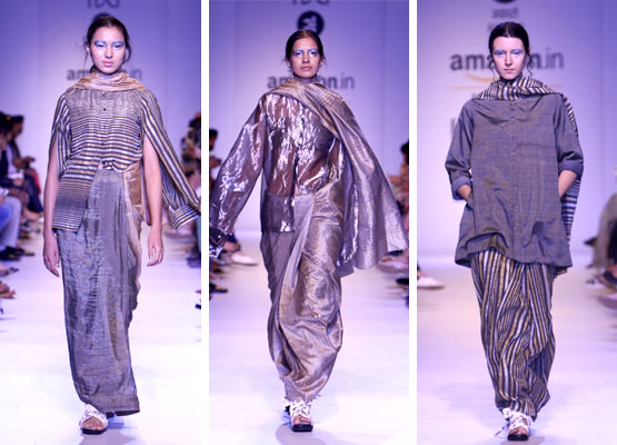 The Many New Styles of Sarees on the Ramp - Global Fashion Street