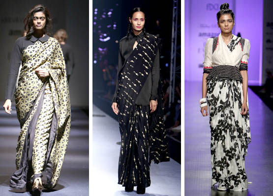 The Many New Styles of Sarees on the Ramp